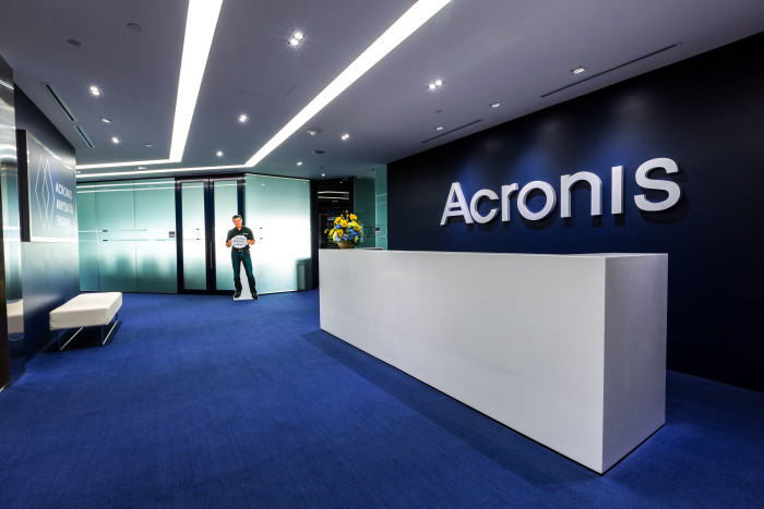 Acronis cut-out of CEO