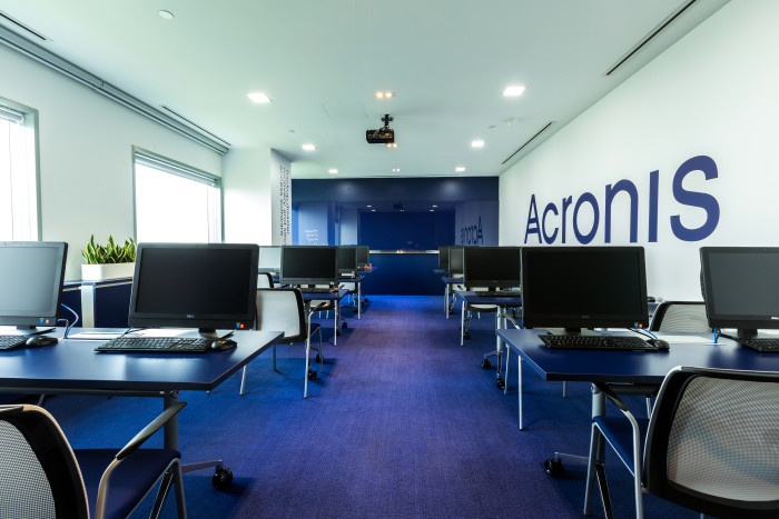 In photos: Cool blues dominate Acronis' Singapore headquarters