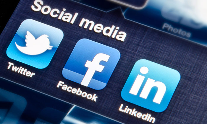 Which sector is most likely to hire through social media?