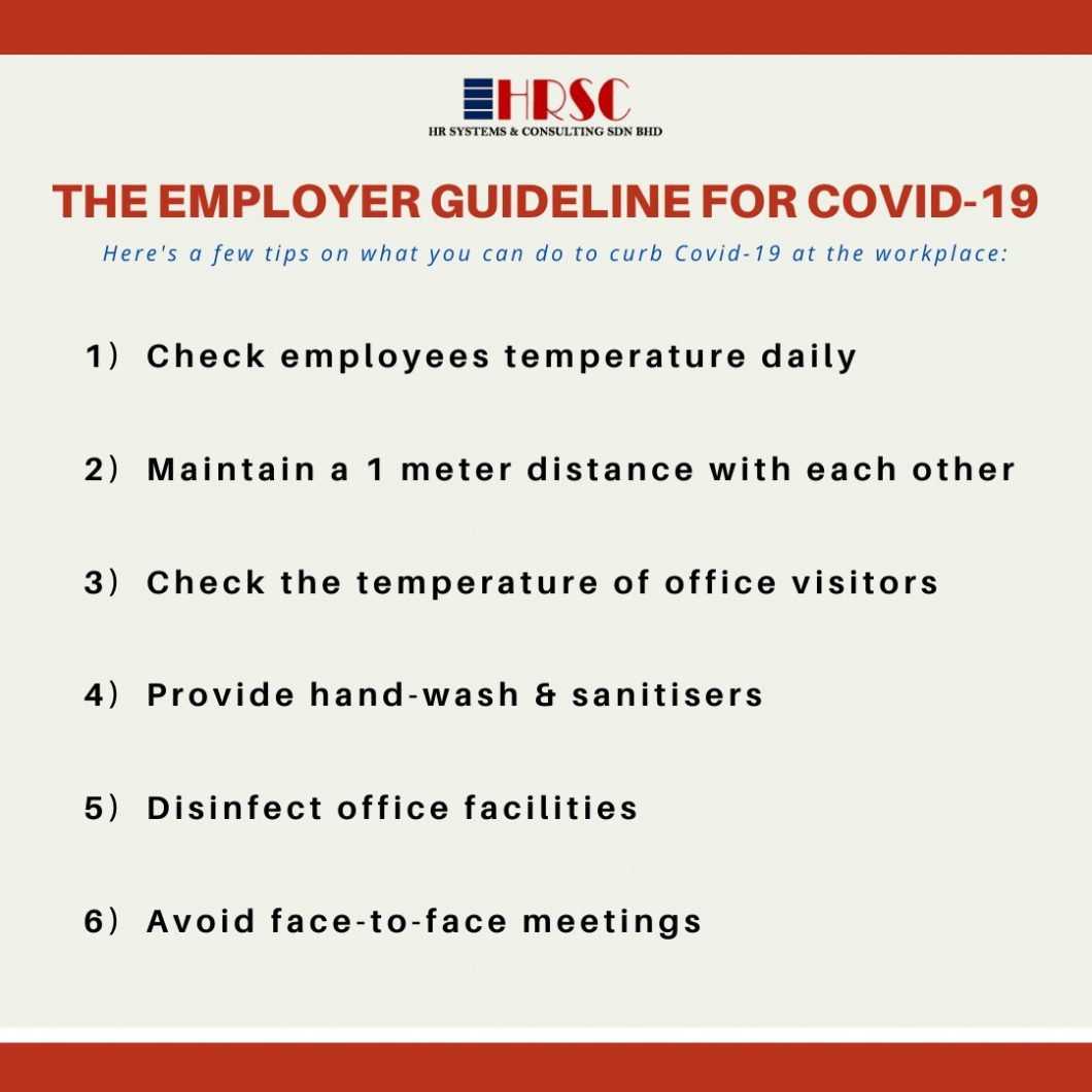 The Employer Guideline for COVID-19