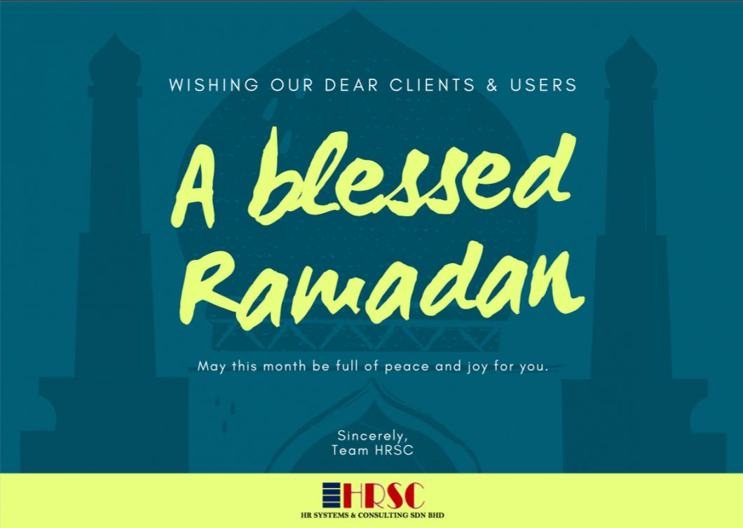 Salam Ramadan.